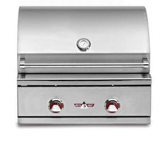"DHBQ26GBN 26"" Wide Stainless Steel Built-In Natural Gas Grill with 420 sq. in. Cooking Area 2 Main Burners (20 000 Btu's Each) and Interior Halogen Light"