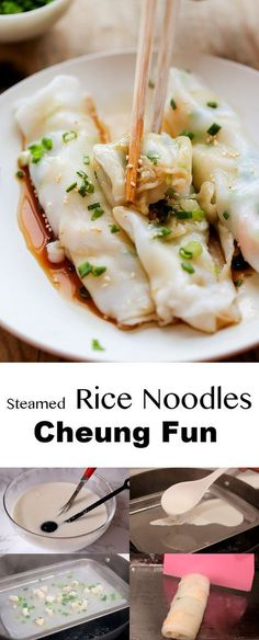 Steamed rice noodles Cheung fun ChinaSichuanFood.com