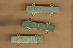 more vintage brass and enamel plaques merit by beadtopiavintage