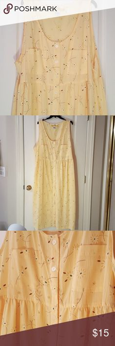 Plus Size Lovely Floral Dress Great quality fabric, easy to launder, and in excellent condition. Buttons all the way down the front and has two pockets. Spring is right around the corner so may as well get ready now! c.s.t. sport Dresses Maxi