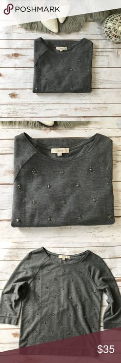 💗Gorgeous Ann Taylor LOFT sequined sweater💗 Gorgeous Ann Taylor sequined sweater in size M please see pics with measurements, condition is excellent no lose threads. LOFT Sweaters