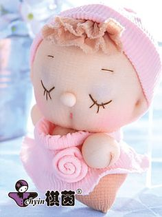 Pink Lady  Candy Babies Stuffed Toy Kit by ClassyThreadsKits, $12.00