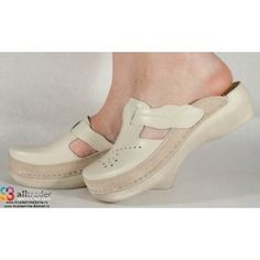 Saboti bej din piele dama/dame/femei (cod 13-7515) Mary Janes, Sneakers, Shoes, Fashion, Tennis, Moda, Slippers, Zapatos, Shoes Outlet