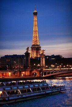 Seine by night,Paris,France