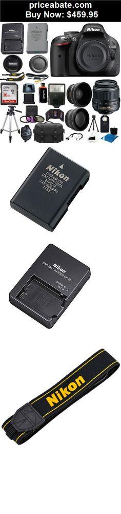Camera-And-Photo: Nikon D5200 Digital SLR Camera + 3 Lens Kit 18-55mm + 16GB Amazing Value Bundle - BUY IT NOW ONLY $459.95