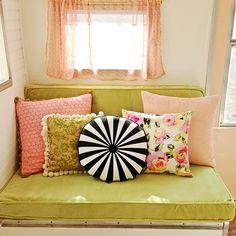 Darla's new cushions #vintagecamper #glamping