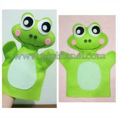 Frog hand puppet made by Pipi Flanel.. Wanna see our feltdolls collection? Please visit our website at www.pipiflanel.com thank you :)