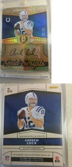 Football Cards 215: 2017 Panini Gold Standard Andrew Luck Autograph Auto Colts # 10 -> BUY IT NOW ONLY: $199.99 on eBay!