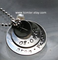 Custom handstamped pendant in your choice of metals by LCimler, $40.00