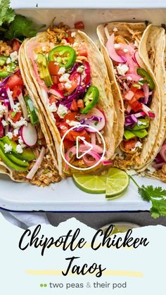 Meat Recipes, Mexican Food Recipes, Chicken Recipes, Cooking Recipes, Chicken Meals, Mexican Dishes, Chipotle Chicken, Chicken Tacos, Diet