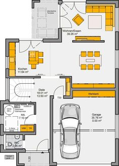 Fertighaus Varano Grundriss EG Prefabricated house Varano floor plan EC The post Prefabricated house Varano floor plan EC appeared first on Leanna Toothaker. Wood Facade, Prefabricated Houses, Roof Architecture, Ground Floor Plan, Architect House, House Roof, House Layouts, Types Of Houses, Building A House