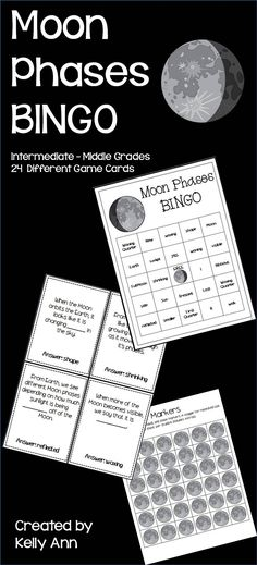 Moon phases bingo