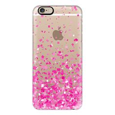 Casetify iPhone 6 Plus/6/5/5s/5c Case - Pink Party Confetti Explosion... ($40) ❤ liked on Polyvore featuring accessories, tech accessories, phone, phone cases, tech, electronics, iphone case, pink iphone 5 case, apple iphone 4 case and transparent iphone case