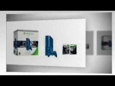 Xbox 360 500GB Special Edition Blue Console Bundle with Call of Duty Ghosts & Black Ops 2