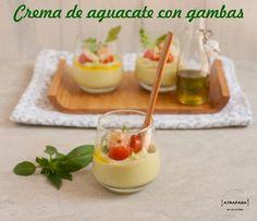 Crema De Aguacate Con Gambas
