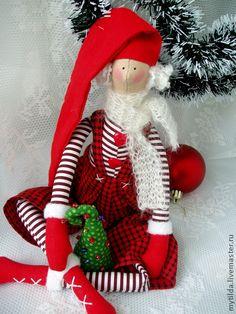 Куклы Тильды ручной работы. Ярмарка Мастеров - ручная работа Новогодний Гном Афанасий. Handmade.