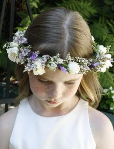 I have freckle envy with this little lady! Delicate floral crown with fresh lavender sprigs and dainty white rose blooms. Ready to discuss details for YOUR flower girl? Set up a consultation today! Flower Girl Crown, Flower Crowns, Floral Crown, Lavender Flowers, Pretty Flowers, Floral Wedding, Wedding Flowers, Hello Monday, Blooming Rose