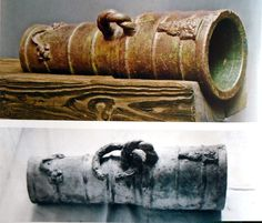 Bronze bombard at Kwidzyn (Marienwerder / Kwēdina) castle Poland, from beginning of 15th century, the only survived bombard used by Teutonic Knights