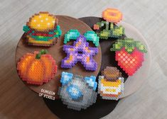 If you love Stardew Valley as much as we do you'll like this new ítems 😄 Which one is your favourite? Fuse Beads, Pearler Beads, Sprites, Cute Crafts, Bead Crafts, Minecraft Pattern, Pokemon Perler Beads, Pix Art, Beading Patterns