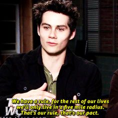 """That time Dylan O'Brien basically trapped his friends inside a mountain ash circle forever till the end of time. 