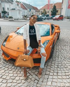 Image discovered by 𝓑𝓮𝓪𝓽𝓻𝓲𝓬𝓮. Find images and videos about fashion, style and tumblr on We Heart It - the app to get lost in what you love. Car Girls, Luxury Cars, Find Image, We Heart It, Satchel, Beauty, Lamborghini, Style, Lost