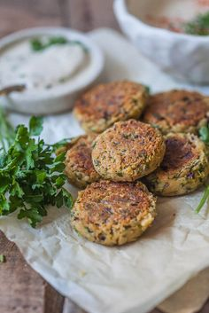 This Pan Fried Falafel is a healthier twist on the classic recipe with fewer calories, but plenty of taste. An easy 30-minute lunch idea!