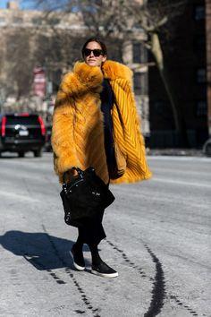 ah-mazing fur. Gala in NYC. #Amlul
