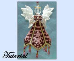 Petalo Angel perline ornamento di beadedpatterns su Etsy