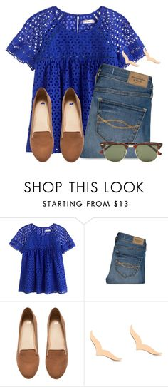 """""""I'm not looking forward to exams"""" by flroasburn on Polyvore featuring J.Crew, Abercrombie & Fitch, H&M, Ginette NY and Ray-Ban"""