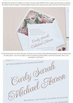 花柄アクセントの使い方が上手なウエディングカード&招待状 | Weddingcard.jp