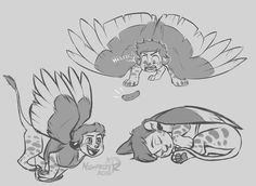 Some sphinx Dipper doodles.