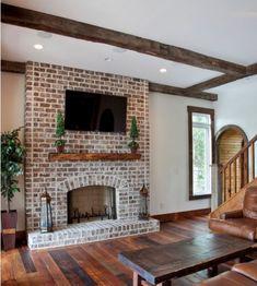 50+ Incredible Diy Brick Fireplace Makeover Ideas http://estunbahmusic.com/50-incredible-diy-brick-fireplace-makeover-ideas/