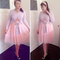 #ootd  Today I decided to go with a #preppy softpink look. Shoes are from #irregularchoice  #outfit #plussize #hellbunny #headband #dizizme #fashion #50's #60's #pastel #pink #plussizefashion #retro #vintage #rockabilly #pinup
