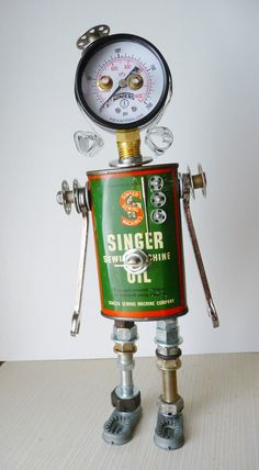 Suzi Quiltmaker  Bot Found Object Assemblage by JoySunBotsAndBooks, $225.00