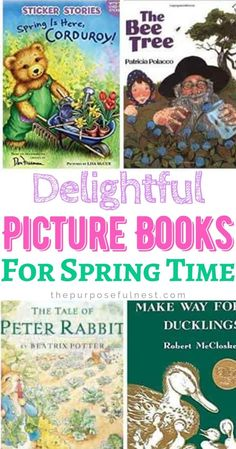 Check out this list of favorite children's picture books for about spring and gardening for preschoolers. Use these books to teach kids all about the Spring season. Spring Activities, Book Activities, Fun Learning, Teaching Kids, Make Way For Ducklings, Don Freeman, Cut Paper Illustration, Spring Books, Collection Of Poems