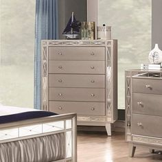 Coaster 204925-CO Furniture Piece, Mercury Metallic