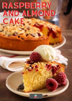 Raspberry and Almond Cake. This Raspberry and Almond Cake is an easy recipe with soft almond sponge with a scattering of fresh raspberries throughout and topped with toasted almonds. A delicious afternoon tea treat. Raspberry And Almond Cake, Almond Tart Recipe, Sweet Pastries, Toasted Almonds, Almond Cakes, Tart Recipes, Cupcake Cakes, Cupcakes, Popular Recipes