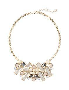Colors that will Blend with any outfit.   Pastel Bib Necklace from THELIMITED.com #ItsTime #TheLimited
