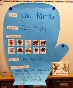 Literacy Activity- The Mitten Unit! FULL of Math, Writing, & Literacy Activities! Kindergarten Reading, Kindergarten Classroom, Kindergarten Activities, Classroom Activities, Kindergarten Rocks, Physics Classroom, Jan Brett, Creative Curriculum, Winter Activities