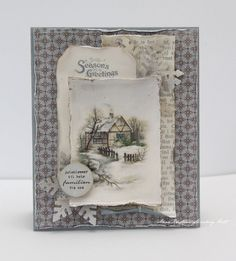 A Christmas card, Glistening Season
