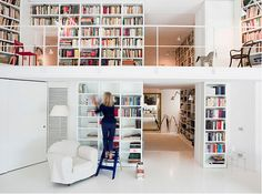 A library in my house is a MUST...maybe not quite this big though.