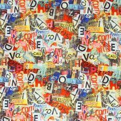 Collage lettere alfabeto