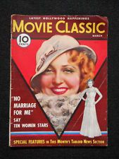 MARCH 1933 MOVIE CLASSIC-JEANETTE MacDONALD cover by MARLAND STONE *RARE*