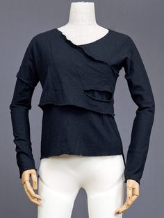 """Comme Des Garcons 1980s """"rag look"""" layered and torn top. This style is also sometimes called """"Hiroshima Chic"""", """"black shock"""" and """"crow tribe""""."""