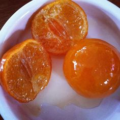 Picture of candied Clementines by Susana Basanty Know Ur Onions Fb Kumquat Recipes, Orange Recipes, Lemon Recipes, Jam Recipes, Fruit Recipes, Sweet Recipes, Candied Orange Slices, Candied Fruit, Clementine Recipes