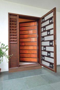 Ideas Main Door Decoration Interior Design For 2019 Grill Door Design, Front Door Design, Door Grill, Entrance Design, Main Entrance Door, House Entrance, Entry Doors, Modern Entrance, Entrance Ideas