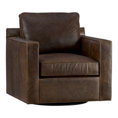 LR accent chair (Davis Leather Swivel Chair)