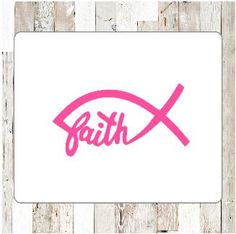 30% off ENTIRE Etsy shop!  Use code GRANDOPENING15   Faith Jesus Fish - Choose your color!    This is a Vinyl Decal with your choice of color. Perfect for your car, water bottle, or other indoor and