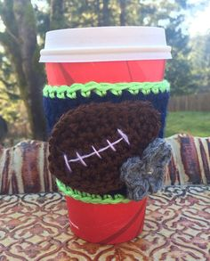 This listing is for a Seattle Seahawks Inspired Coffee Cup Cozy!!    This cozy is crocheted out of a soft Navy yarn and edged in Lime Green