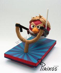 Luke Skywalker Angry Birds Cake by Pirikos, Cake Design
